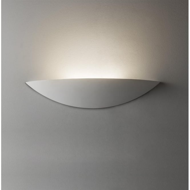 Astro Lighting Slice Single Light LED Ceramic Wall Fitting In White Finish
