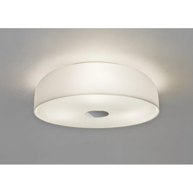 Astro Lighting Syros 3 Light Bathroom Ceiling Fitting In White Opal Glass Finish