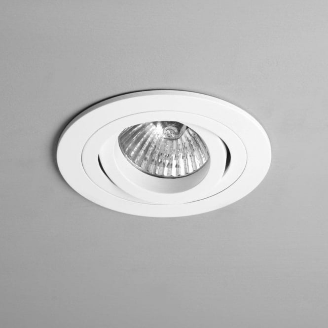 Astro lighting taro round single light fire rated adjustable halogen taro round single light fire rated adjustable halogen recessed ceiling fitting in white finish aloadofball Image collections