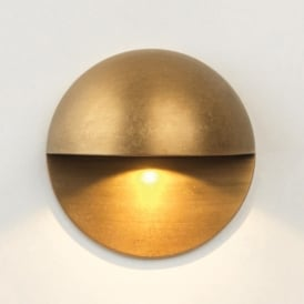 Tivoli Single LED Exterior Wall & Step Fitting in Antique Brass Finish