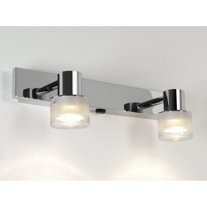 Astro Lighting Tokai 2 Light Switched Bathroom Spotlight in Polished Chrome Finish