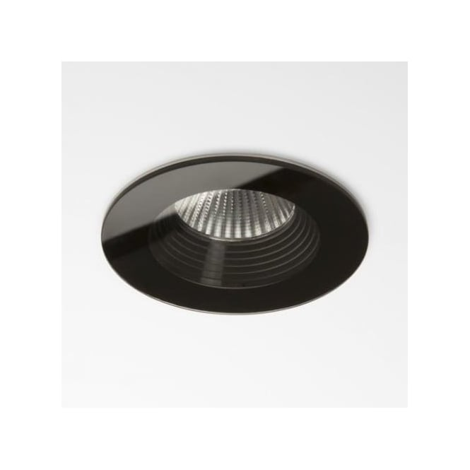 Black Finish Bathroom Lighting: Astro Lighting Vetro Single Light LED Round Fire Rated