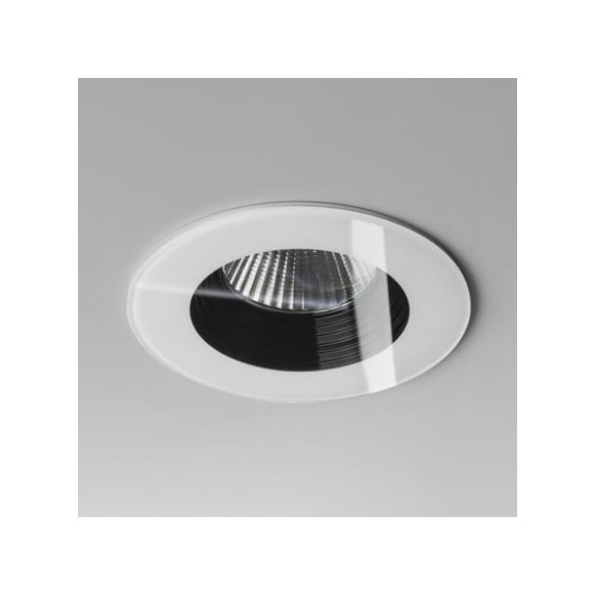 Astro Lighting Vetro Single Light LED Round Fire Rated Recessed Bathroom Downlight In White Finish(Dimmable)