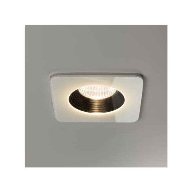 Astro Lighting Vetro Single Light LED Square Fire Rated Recessed Bathroom Downlight In White ...