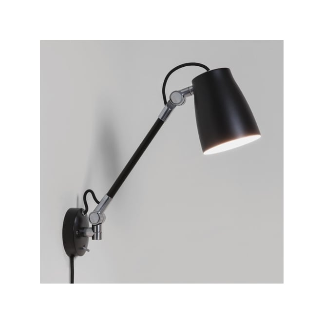 Astro Lighting Atelier Grande Single Light Switched Wall Fitting In Black Finish