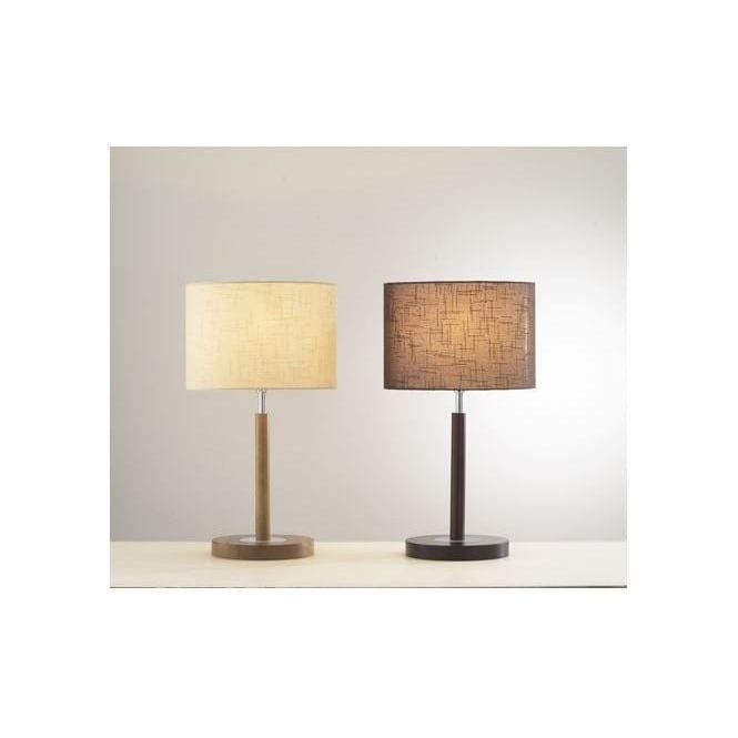 Dar Lighting Avenue Light Or Dark Wood Table Lamp With Shade