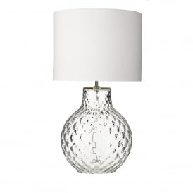 Azores Single Light Large Table Lamp Base Only in Clear Glass