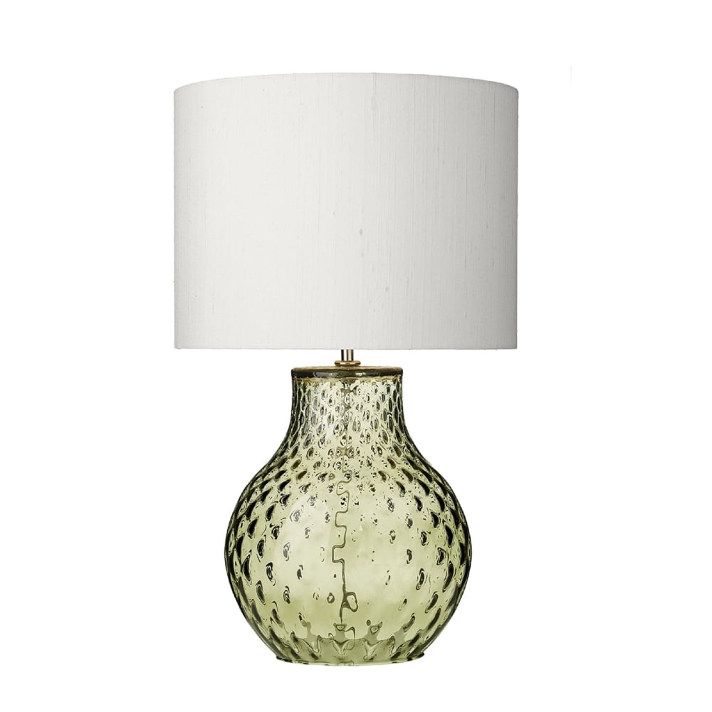 David Hunt Lighting Azores Single Light Small Table Lamp Base Only In Green  Glass   Lighting Type From Castlegate Lights UK