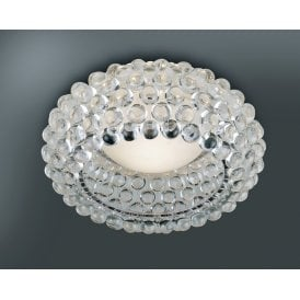 'Acrylio 70 Top' Single Light Semi Flush Ceiling Fitting with Acrylic Ball Detail