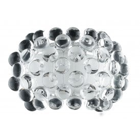 Acrylio Single Light Wall Fitting with White Inner Glass Shade and Acrylic Ball Detail