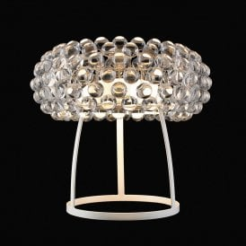 'Acrylio Table' Single Light Table Lamp with Acrylic Ball Detail
