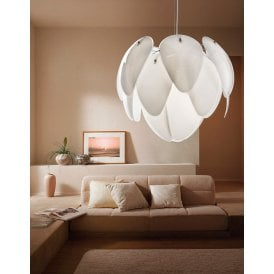 Antires 5 Light Ceiling Pendant in White Finish
