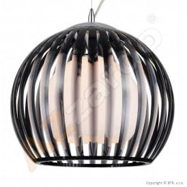 Arcada L Single Light Ceiling Pendant in Black Acrylic Finish