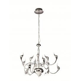 AZ0043 'Snake 2' 15 Light Multi Arm Ceiling Pendant in Polished Chrome Finish