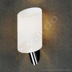AZ0141 Rosa Single Light Wall Fitting in Satin Chrome Finish with White Shade