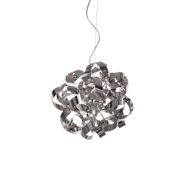 Delta 9 Light Ceiling Pendant in Polished Chrome Finish