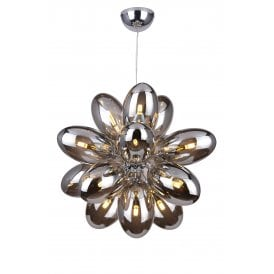 'Diana 16' 16 Light Ceiling Pendant in Polished Chrome Finish