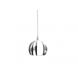 'Noa 1' Single Light Ceiling Pendant in Polished Chrome and White Finish