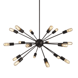 Orbit 18 Light Ceiling Pendant in Black Finish