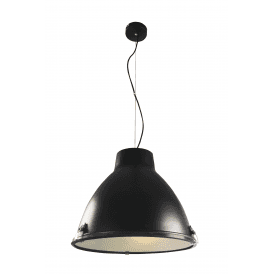 Tyrian Single Light Ceiling Pendant in Black Finish