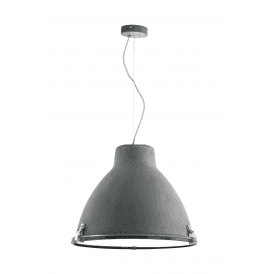 Tyrian Single Light Ceiling Pendant in Concrete Grey Finish