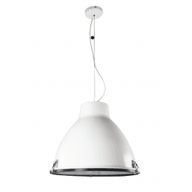 Tyrian Single Light Ceiling Pendant in White Finish