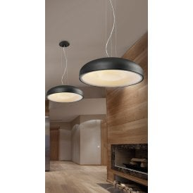 Valedo 26W LED Ceiling Pendant in Sandy Black Finish