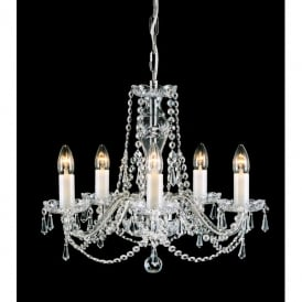 Babice 5 Light Chandelier Fitting with Bohemian Lead Crystal