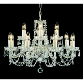 Babice Large 12 Light Chandelier Fitting with Bohemian Lead Crystal