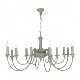 Bailey 12 Light Ceiling Pendant in Ash Grey Finish