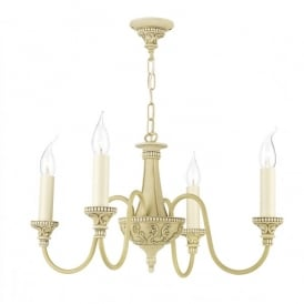 Bailey 4 Light Chandelier in an Antique Cream Finish