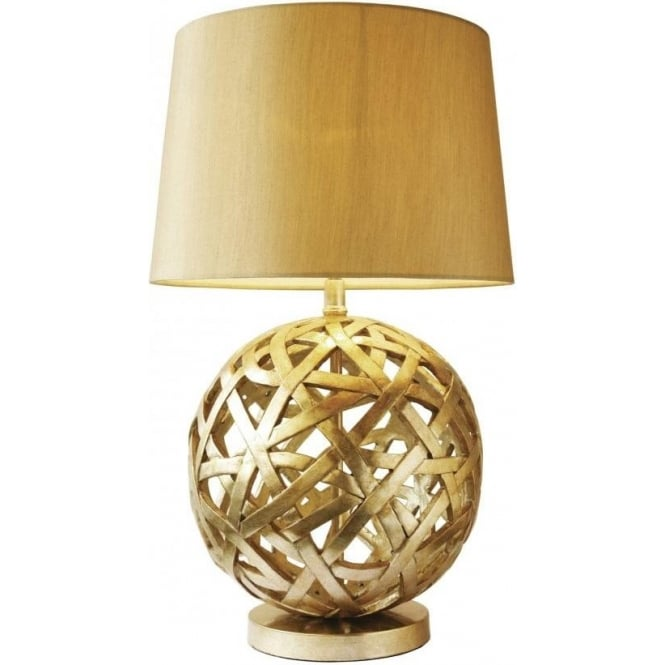Dar lighting balthazar antique gold table lamp complete Types of table lamps