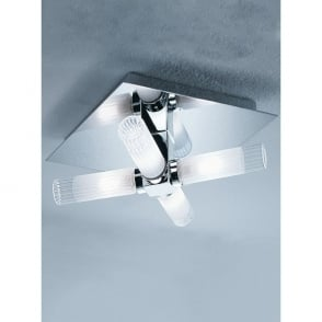 Bathroom 4 Light Semi-Flush Ceiling Fitting in Polished Chrome Finish