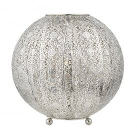Bazar Single Light Table Lamp in Antique Silver Finish