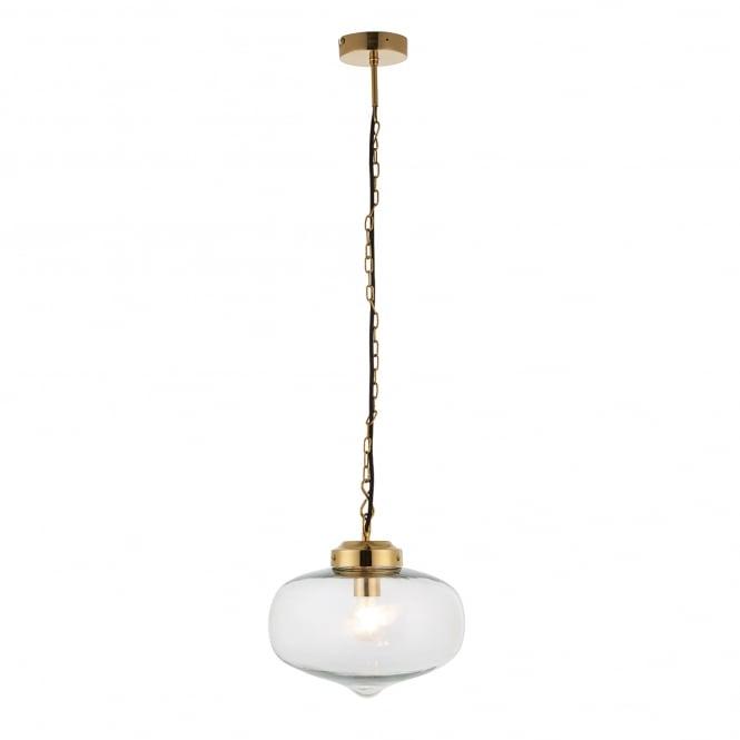 Brass Finish Ceiling Lights : Endon lighting beckinsale single light ceiling pendant in
