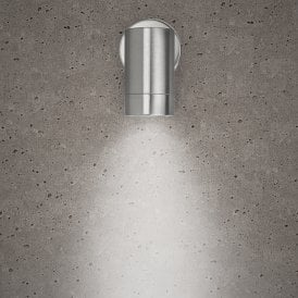 10336 Astro Single Light Outdoor Wall Fitting in Stainless Steel Finish
