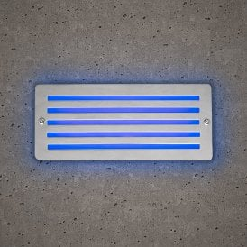 10392 Astro Outdoor Brick Light In Stainless Steel Finish With Blue LED Light