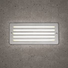 10393 Astro Outdoor Brick Light In Stainless Steel Finish With White LED Light