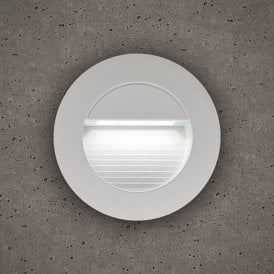 10403 Astro Outdoor Round Guide Light In White Finish With White LED Light