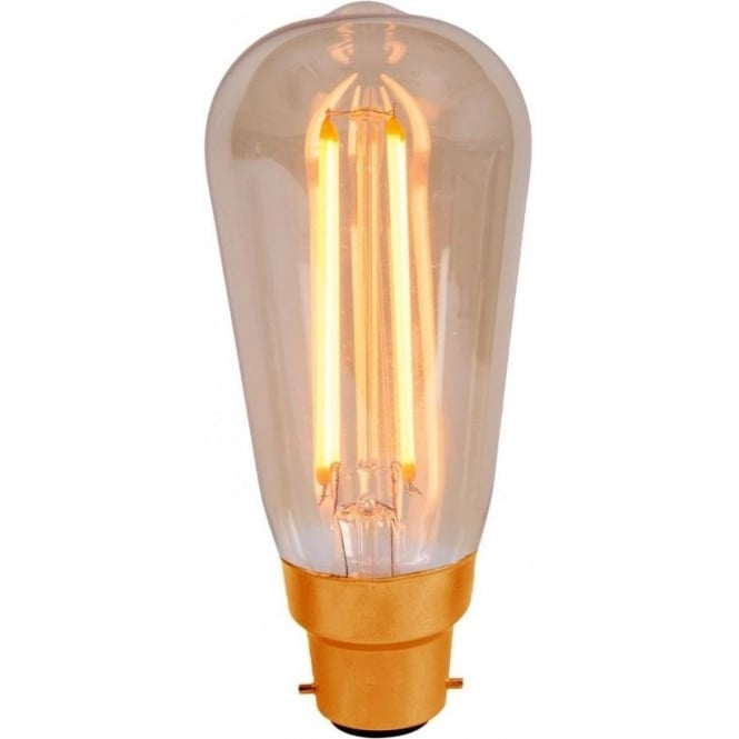 Bell Lighting 4w LED B22 Vintage Style Squirrel Cage Fillament Lamp