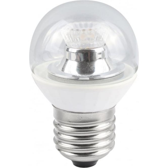 Bell Lighting 4w LED E27 Cool White Dimmable Clear Golf Ball Lamp