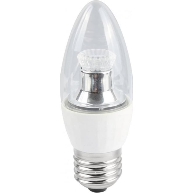 Bell Lighting 4w LED E27 Warm White Dimmable Clear Candle Lamp