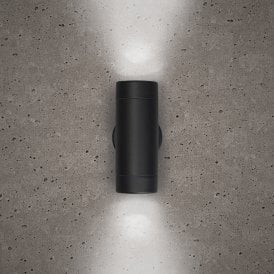 Astro 2 Light Outdoor Wall Fitting in Black Finish