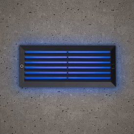 Astro Outdoor Brick Light In Black Finish With Blue LED Light