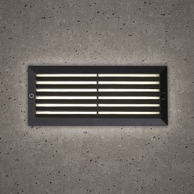 Astro Outdoor Brick Light In Black Finish With White LED Light