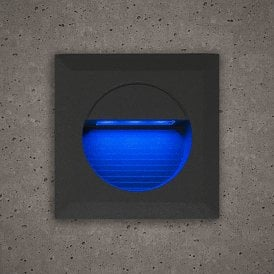 Astro Outdoor Guide Light In Slate Grey Finish With Blue LED Light