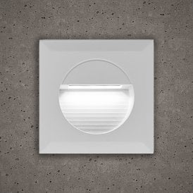 Astro Outdoor Guide Light In White Finish With White LED Light