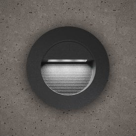 Astro Outdoor Round Guide Light In Slate Grey Finish With White LED Light
