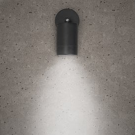 Astro Single Light Outdoor Wall Fitting in Black Finish With Adjustable Lamp Head