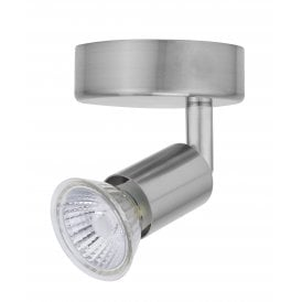 Astro Single Light Spot Light In Satin Chrome Finish
